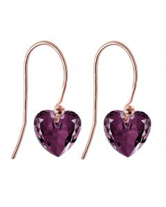 Ah! Jewellery® 10mm Heart Crystals From Swarovski® Sterling Silver Fish Hook Earrings, Stamped 925.