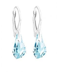 Ah! Jewellery® Polygon Drop Crystals From Swarovski® Sterling Silver Earrings, Stamped 925.