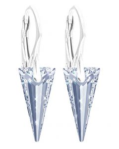 18mm Crystals From Swarovski Blue Shade Spike Earrings