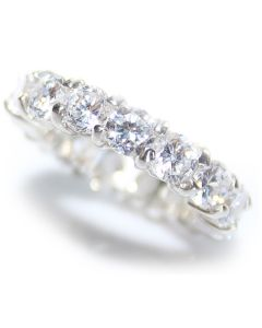 Sterling Silver AAA Cubic Zirconia Eternity Ring