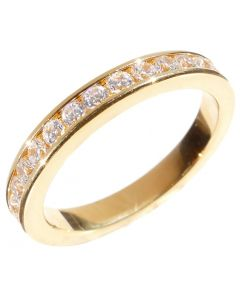 Ah! Jewellery® Gold plated Full Eternity Ring Band.