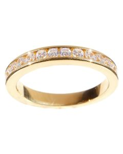 24K Gold Filled Eternity Band With Simulated Diamonds