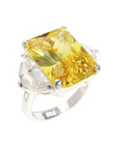 Sterling Silver 16ct Citrine Ring