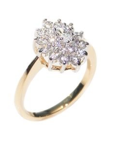 Gold And Rhodium Electroplated AAA Grade Cubic Zirconia Ring