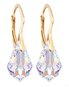 Ah! Jewellery® Sterling Silver Aurore Boreale Crystals From Swarovski® Baroque Earrings