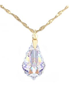 Ah! Jewellery® Sterling Silver Crystals From Swarovski® Baroque Necklace