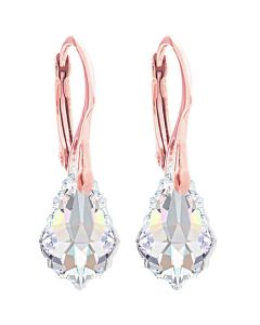 24K Rose Gold Over Sterling Silver Aurore Boreale Baroque Earrings