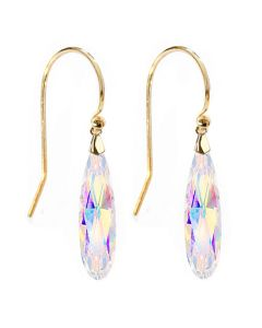 Gold Over Sterling Silver Aurore Baroque Raindrop Earrings