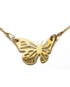 Gold Over Sterling Silver Butterfly Necklace