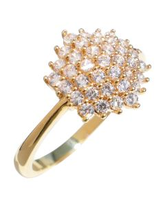 Ah! Jewellery® Gold Filled Simulated Diamond Cluster Ring