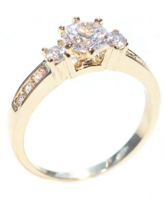 Ah! Jewellery® Gold Filled Simulated Diamond Promise Ring