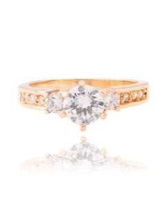 Genuine Gold Filled With Simulated Centre Diamond