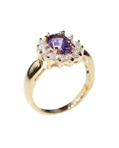 Gold Filled Genuine Amethyst Centre Stone
