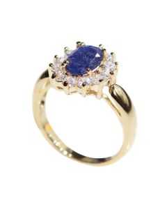 Gold Filled Genuine Sapphire Centre Stone Ring