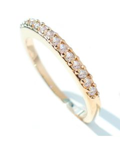 Gold Filled Lab Simulated Diamond Half-Eternity Band