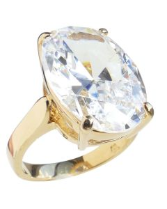 Oval Gold Filled Statement Ring