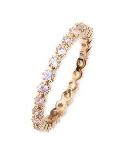 18K Genuine Cold Filled Eternity Band With Simulated Diamonds