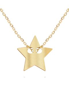 Gold Over Sterling Silver Star Necklace