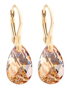 Ah! Jewellery® 16mm Golden Shadow Pear Crystals from Swarovski® Earrings