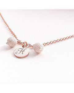 Ah! Jewellery® Sterling Silver Stardust Initial Necklace.