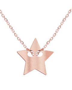 Rose Gold Over Sterling Silver Star Necklace