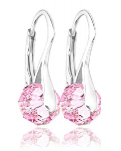 Ah! Jewellery® Sterling Silver Crystals From Swarovski® Briolette Earrings, Stamped 925