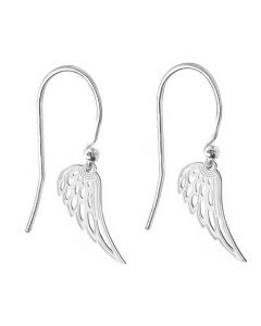 Ah! Jewellery® Sterling Silver Open Work Angel Wing Earrings, Stamped 925